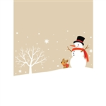 Snowman Christmas Printed Backdrop