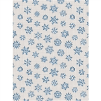 Blue Snowflake Printed Backdrop