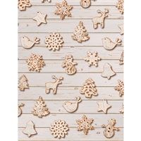 Gingerbread Cookies Printed Backdrop