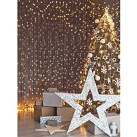 Star Christmas Tree Printed Backdrop