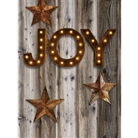 Joy Christmas Printed Backdrop
