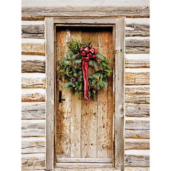 Rustic Christmas Wreath Backdrop