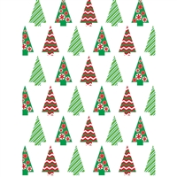 Christmas Candy Trees Backdrop