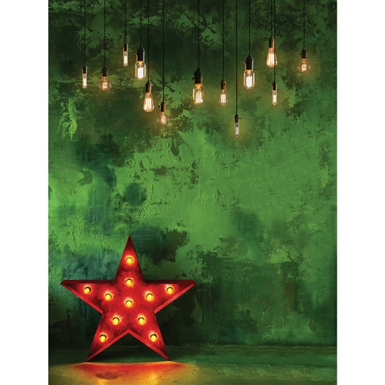 Bright Red Star Backdrop