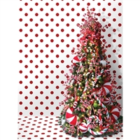 Candy Cane Christmas Backdrop