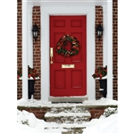 Christmas Red Door Backdrop