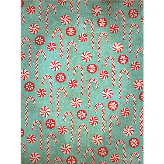 Vintage Candy Cane Backdrop