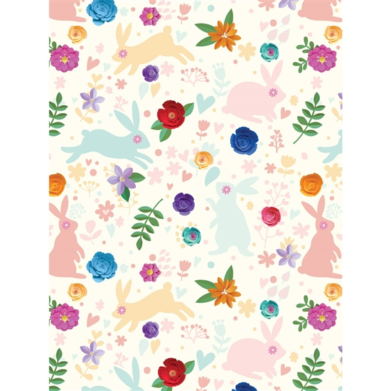 Bunny Garden Printed Backdrop