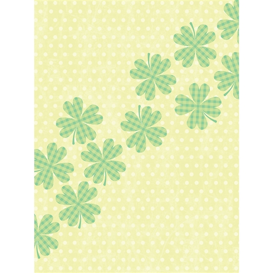 Lucky Clovers Printed Backdrop