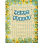 Vintage Easter Printed Backdrop