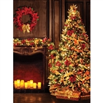Candle Light Christmas Printed Backdrop