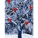 Christmas Yard Printed Backdrop