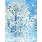 Snowy Winter Night Printed Backdrop