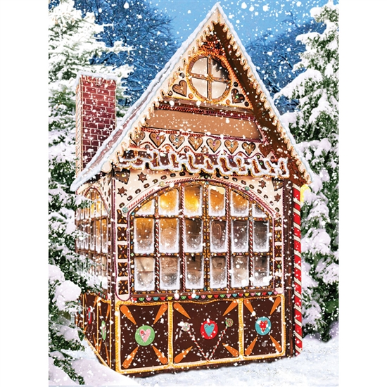 Gingerbread Christmas Printed Backdrop