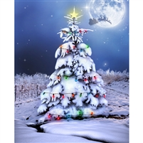 Christmas Night Printed Backdrop