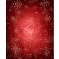 Crimson & Snowflakes Printed Backdrop