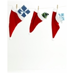 Santa's Hat Stockings Printed Backdrop