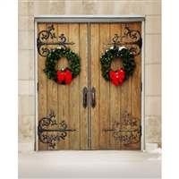 Decorated Doors Printed Backdrop