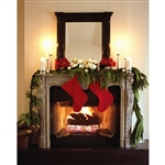Yule Log Printed Backdrop