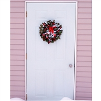Festive Front Door Printed Backdrop