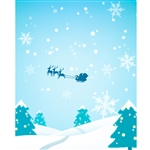 Santa in the Sky Printed Backdrop