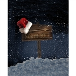 This Way to Santa Printed Backdrop