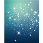 Deep Blue Sparkles Printed Backdrop