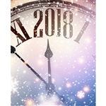New Year's Eve Clock Printed Backdrop