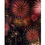Firework Celebration Printed Backdrop