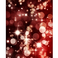 Red Bokeh Printed Backdrop