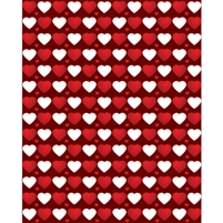 Repeating Hearts Printed Backdrop