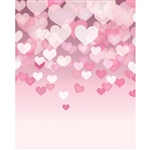 Floating Hearts Printed Backdrop