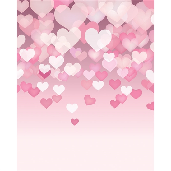 Floating Hearts Printed Backdrop Backdrop Express