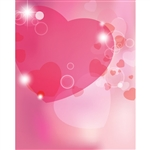 Translucent Hearts Printed Backdrop