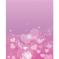 Shimmering Hearts Printed Backdrop
