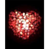 Bokeh Heart Printed Backdrop