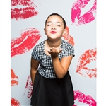 Lipstick Kisses Printed Backdrop