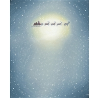 Santa's Sleigh Printed Backdrop