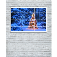 Christmas Window Printed Backdrop