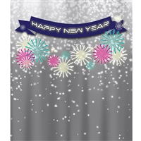 New Year's Eve Banner Printed Backdrop