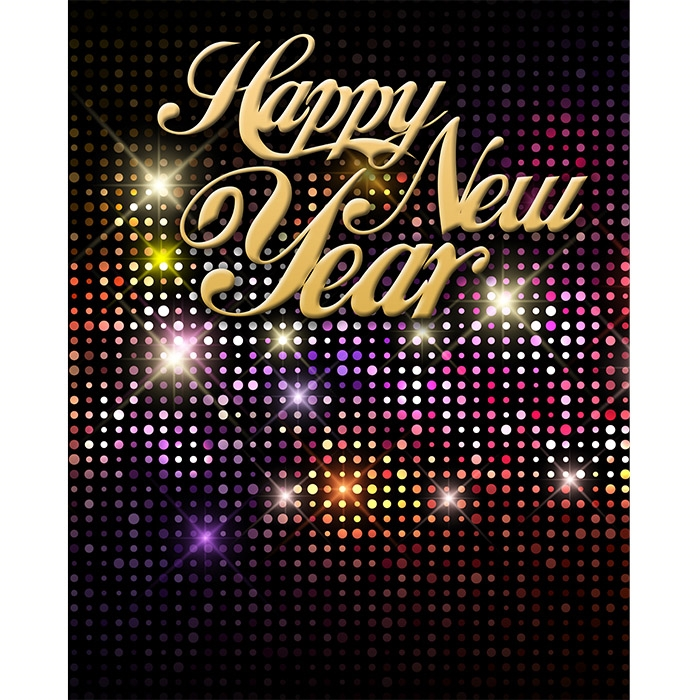 New Years Eve Disco Ball Printed Backdrop Backdrop Express