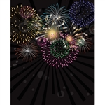 New Year's Eve Fireworks Printed Backdrop