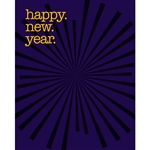 New Year's Eve Star Burst Printed Backdrop