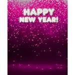 Electric New Year's Eve Printed Backdrop