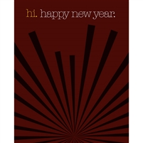 Hi New Year Printed Backdrop