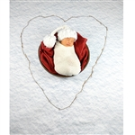 Heart in the Snow Printed Backdrop