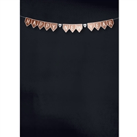 New Year's Bunting Printed Backdrop