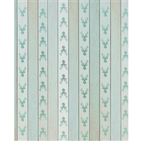 Mint Deer Planks Printed Backdrop