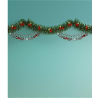 Mint Garland Printed Backdrop