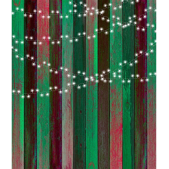 Holiday Lights Printed Backdrop
